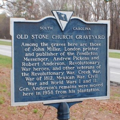 Old Stone Church Graveyard Marker Photo, Click for full size