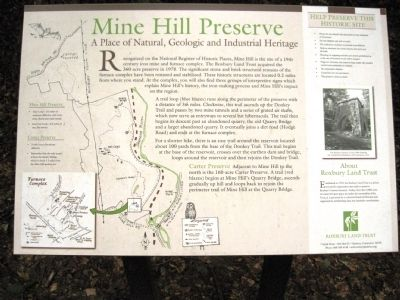 Mine Hill Preserve Marker image. Click for full size.