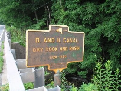 D. and H. Canal Marker image. Click for full size.