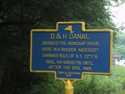 D & H Canal Marker image. Click for full size.