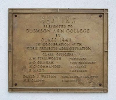 Outdoor Theater (Amphitheater) Marker - Seating image. Click for full size.