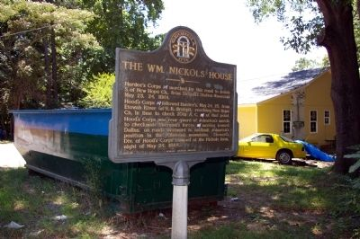 The Wm. Nickols House Marker image. Click for full size.