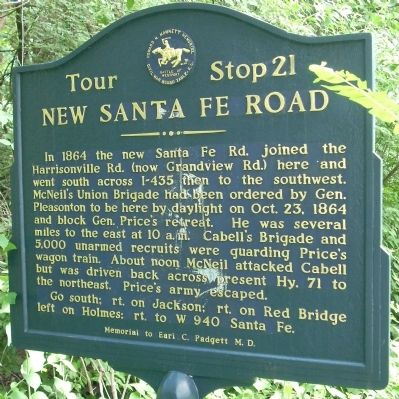 New Santa Fe Road Marker image. Click for full size.