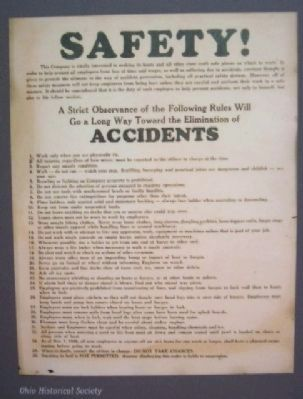 Safety Rules List on Life on the River Marker image. Click for full size.