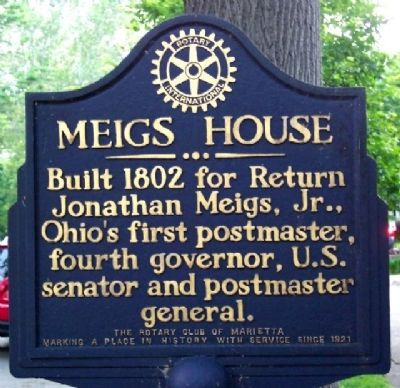 Meigs House Marker image. Click for full size.