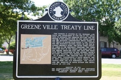 Greene Ville Treaty Line Marker Photo, Click for full size