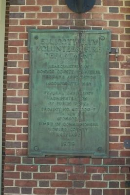 Ellicott City Volunteer Fire Department Marker image. Click for full size.