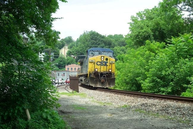 CSX Freight Train at Ellicott City Photo, Click for full size