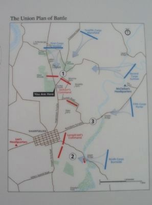 Union Plan of Battle Map image. Click for full size.