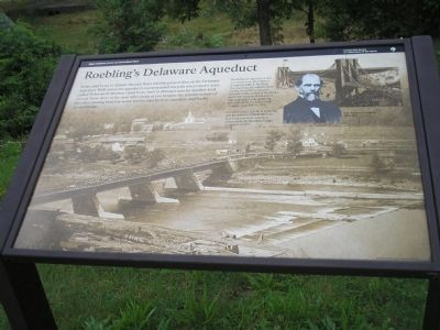 Roebling�s Delaware Aqueduct Marker image. Click for full size.