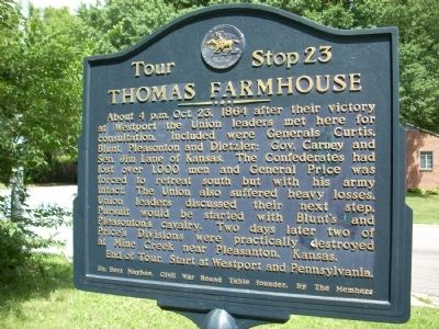 Thomas Farmhouse Marker Photo, Click for full size
