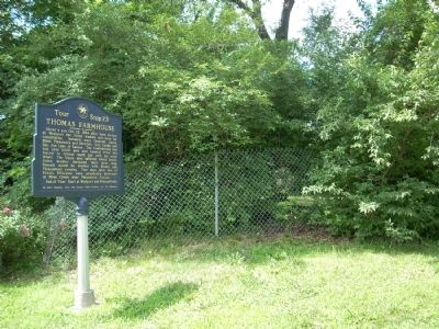 Area photo of the Thomas Farmhouse Marker Photo, Click for full size