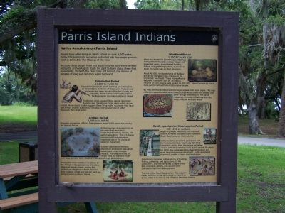 Parris Island Indians Marker image. Click for full size.