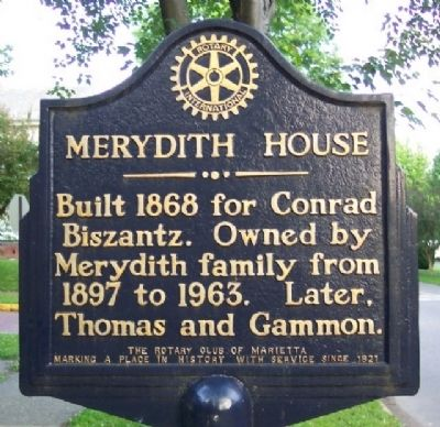 Merydith House Marker image. Click for full size.