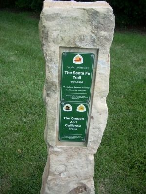 Closeup of Santa Fe Trail Marker Photo, Click for full size