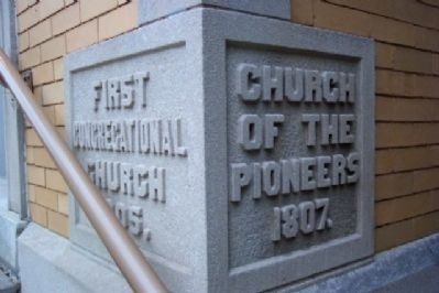First Congregational Church Cornerstone image. Click for full size.