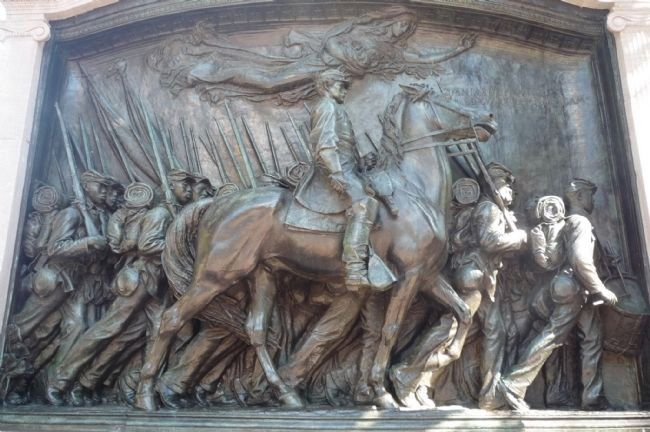 Memorial to Robert Gould Shaw and the Massachusetts 54th Regiment Marker image. Click for full size.