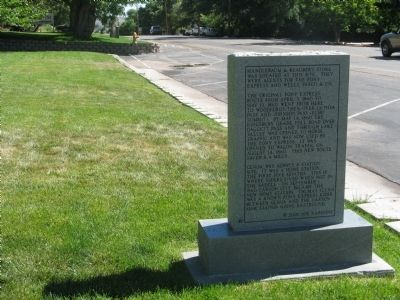 Wide View of Back of Marker image. Click for full size.