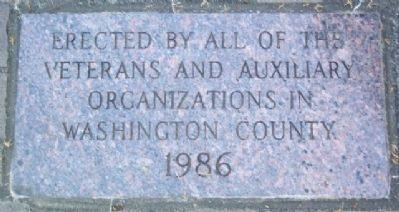 Washington County Veterans Memorial Sponsor image. Click for full size.