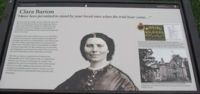 Clara Barton Marker Photo, Click for full size