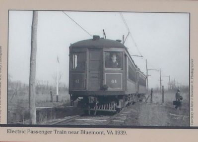 Electric Passenger Train near Bluemont, Virginia, 1939 Photo, Click for full size