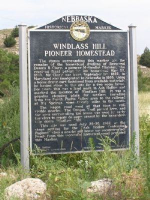 Windlass Hill Pioneer Homestead Marker Photo, Click for full size