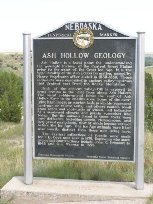 Ash Hollow Geology Marker image. Click for full size.