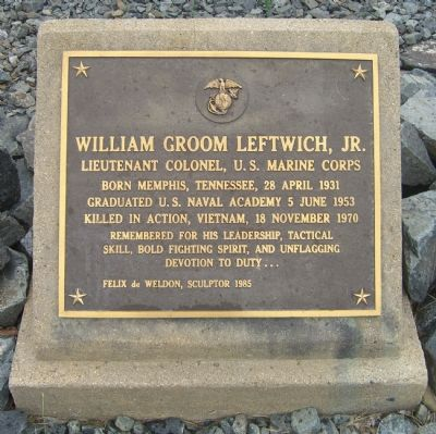 William Groom Leftwich, Jr. Marker Photo, Click for full size