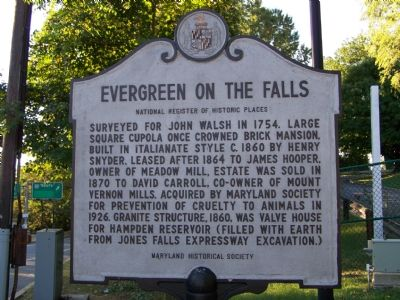 Evergreen on the Falls Marker image. Click for full size.
