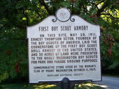 First Boy Scout Armory Marker image. Click for full size.