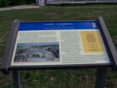 Camp Carroll Marker Photo, Click for full size