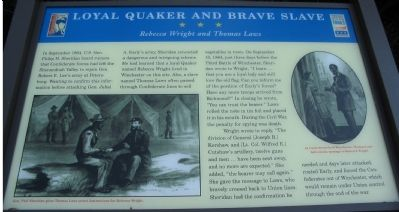 Loyal Quaker and Brave Slave Marker Photo, Click for full size