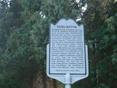 Fairlington Marker Photo, Click for full size