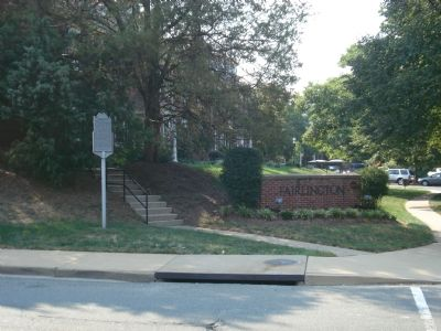 The Fairlington Marker at an entrance to Fairlington Photo, Click for full size