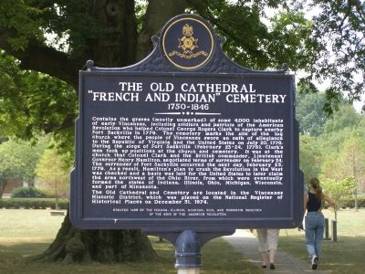 "The Old Cathedral ""French and Indian"" Cemetery, 1750-1846 Marker image. Click for full size."