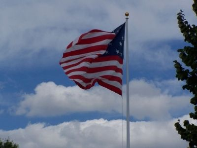 Star-Spangled Banner flies over Federal Hill image. Click for full size.