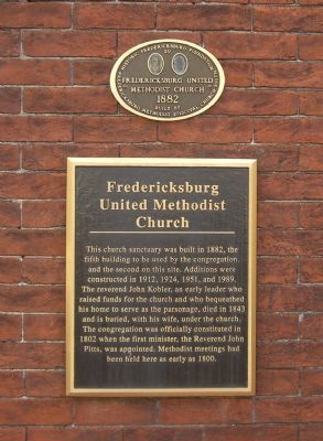 Fredericksburg United Methodist Church Markers image. Click for full size.