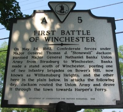 First Battle of Winchester Marker image. Click for full size.