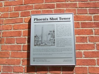 Phoenix Shot Tower Marker image. Click for full size.