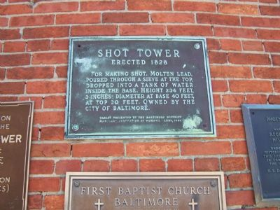 Shot Tower erected 1828 image. Click for full size.