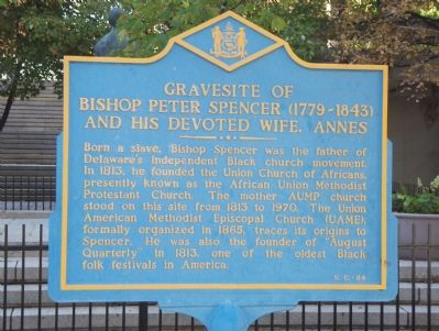 Gravesite of Bishop Peter Spencer (1779-1843) And His Devoted Wife, Annes Marker image. Click for full size.