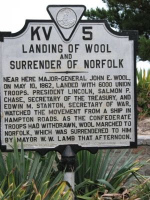 Landing of Wool and Surrender of Norfolk Marker image. Click for full size.
