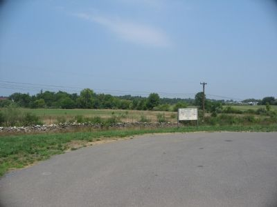 Looking North Past the Marker towards Prichard's Hill Photo, Click for full size