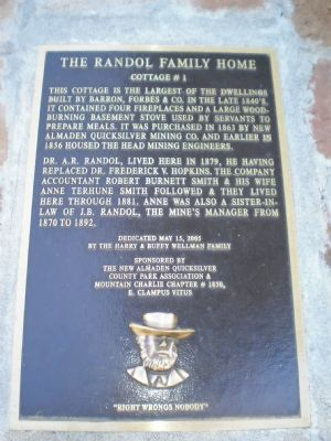Randol Family Home marker Photo, Click for full size