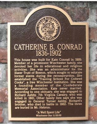 Catherine B. Conrad - 1836-1902 Marker image. Click for full size.
