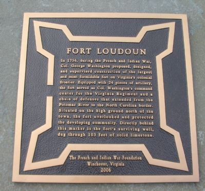 Fort Loudoun Marker image. Click for full size.