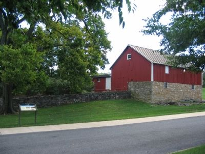 Marker in Front of the Outbuildings of Glen Burnie image. Click for full size.