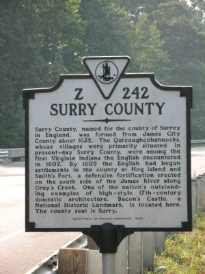 Surry County Marker image. Click for full size.
