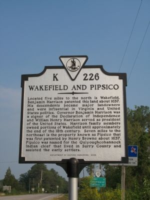 Wakefield and Pipsico Marker image. Click for full size.