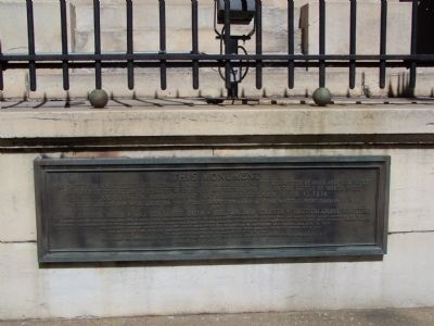 Plaque at base of monument installed in 1914. Photo, Click for full size